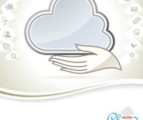 Cartoon Cloud background 1 vector