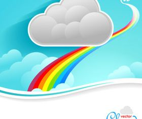 Cartoon Cloud background 3 vector