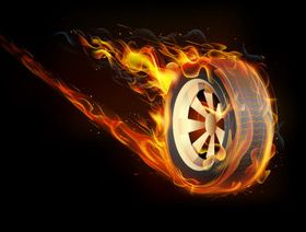 Burning Tire vectors graphics