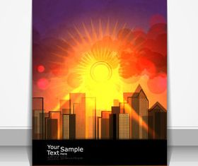 Sunlight elements cover design 1 vector