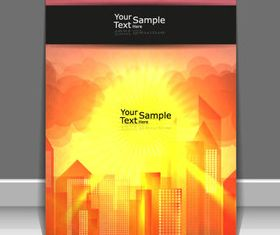 Sunlight elements cover design 2 vector