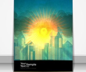 Sunlight elements cover design 3 vector