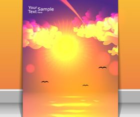 Sunlight elements cover design 5 vector