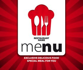 Menu cover creative design 1 vector