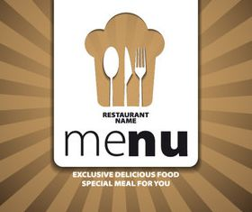 Menu cover creative design 2 vector