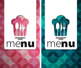 Menu cover creative design 5 vector