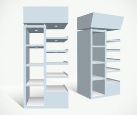 Display rack 1 vector
