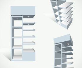 Display rack 3 vector