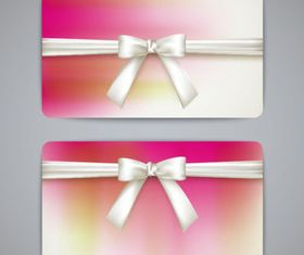 Bow cards 2 set vector