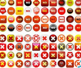 Alert icons set vector graphics