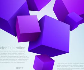 Blue and Purple Cube background set vector