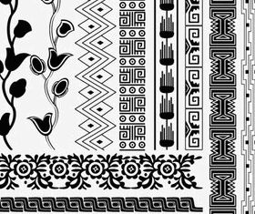 Egyptian style floral pattern 5 vector