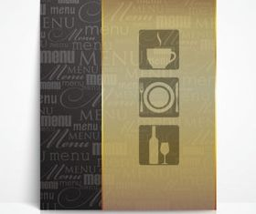 Menu cover 1 vector