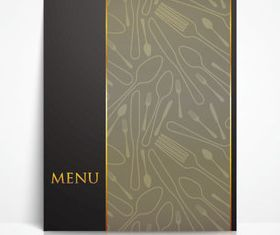 Menu cover 2 vector