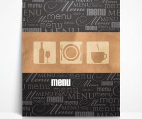 Menu cover 3 vector