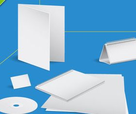 Blank paper and Notepad vector design