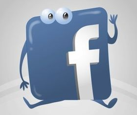 Facebook Logo Cartoon vector