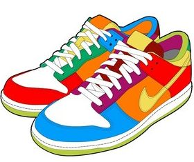 Nike sports shoes vector