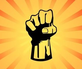 Fist Power Graphic set vector