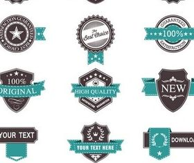 Vintage Blue Sale Labels vectors