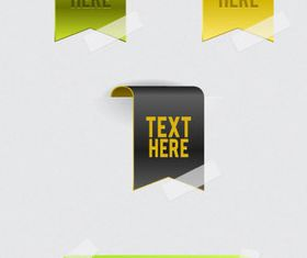 Shiny web labels set vector