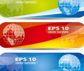 Web design elements banner 2 set vector