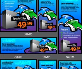 Different Price banner 1 vector