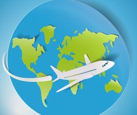 Sticker travel elements free 1 vector graphic