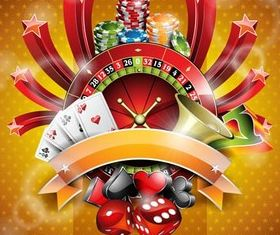 Shiny Poker Backgrounds vector