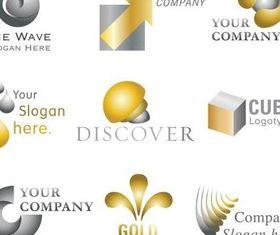 Creative Color Logo shiny vector