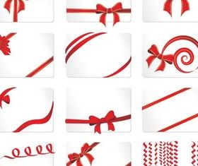 Different Red Ribbons vector