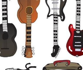 Drawing Music Icons Illustration vector
