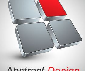 Abstract shapes design 3 set vector