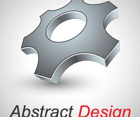 Abstract shapes design 5 set vector