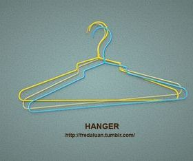 Color hanger vector