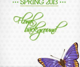 Butterfly Beautiful background 1 set vector