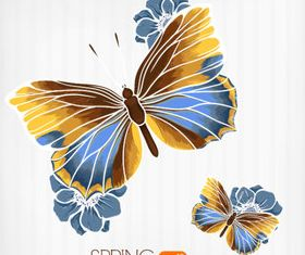 Butterfly Beautiful background 2 set vector