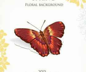 Butterfly Beautiful background 4 set vector