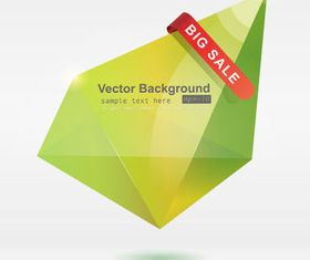 Color Origami abstract background 3 vector