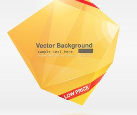 Color Origami abstract background 4 vector