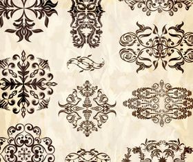 Decorative pattern element vector design