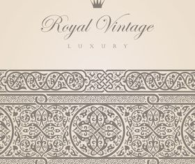 Vintage royal style background vector