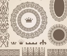 Vintage Decor element vector