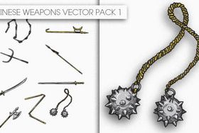 Chinese Weapons set vector