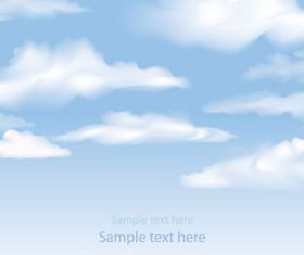 White Cloud background vector