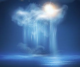Cloud and Rain background shiny vector