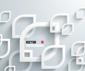 3D White elements background 1 vector