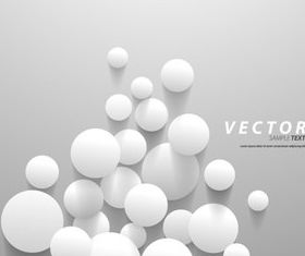 3D White elements background 3 vector