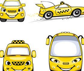 Cute Cartoon Taxi vector