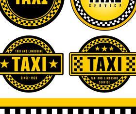 Taxi labels vectors material